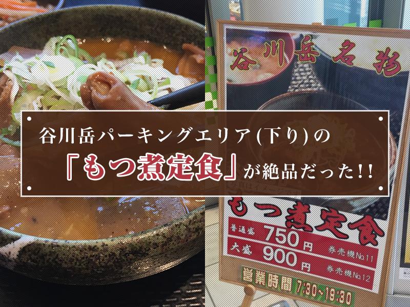谷川岳パーキングエリア(下り)の「もつ煮定食」が絶品だった!!