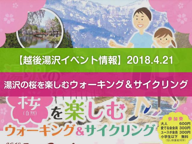 2018.4.21 湯沢の桜を楽しむウォーキング&サイクリング