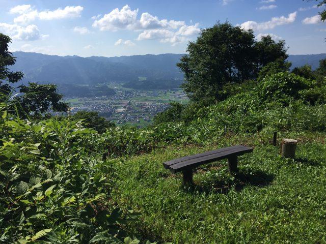 坂戸山休憩ポイントから見る風景